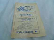 Millwall v Crystal Palace, 1959/60
